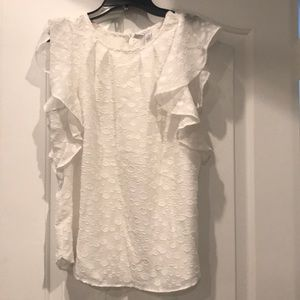 Elle white summer top in size xs